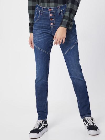 PLEASE Jeans in blue denim: Frontalansicht