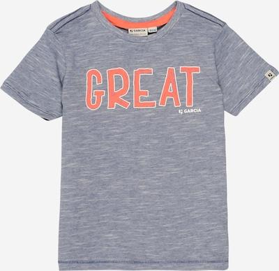 GARCIA T-Shirt in blaumeliert / orange: Frontalansicht
