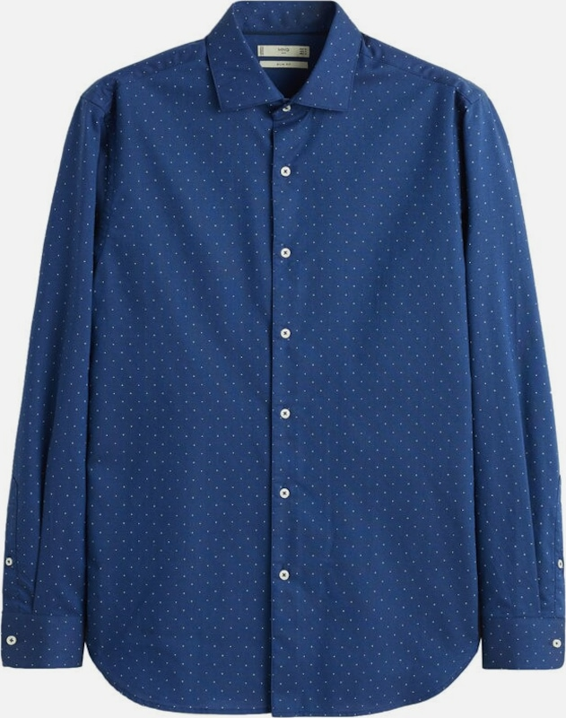 MANGO MAN Hemd 'Dotty' in navy, Produktansicht
