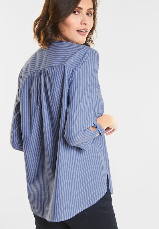 STREET ONE Streifen-Bluse mit Schleifen