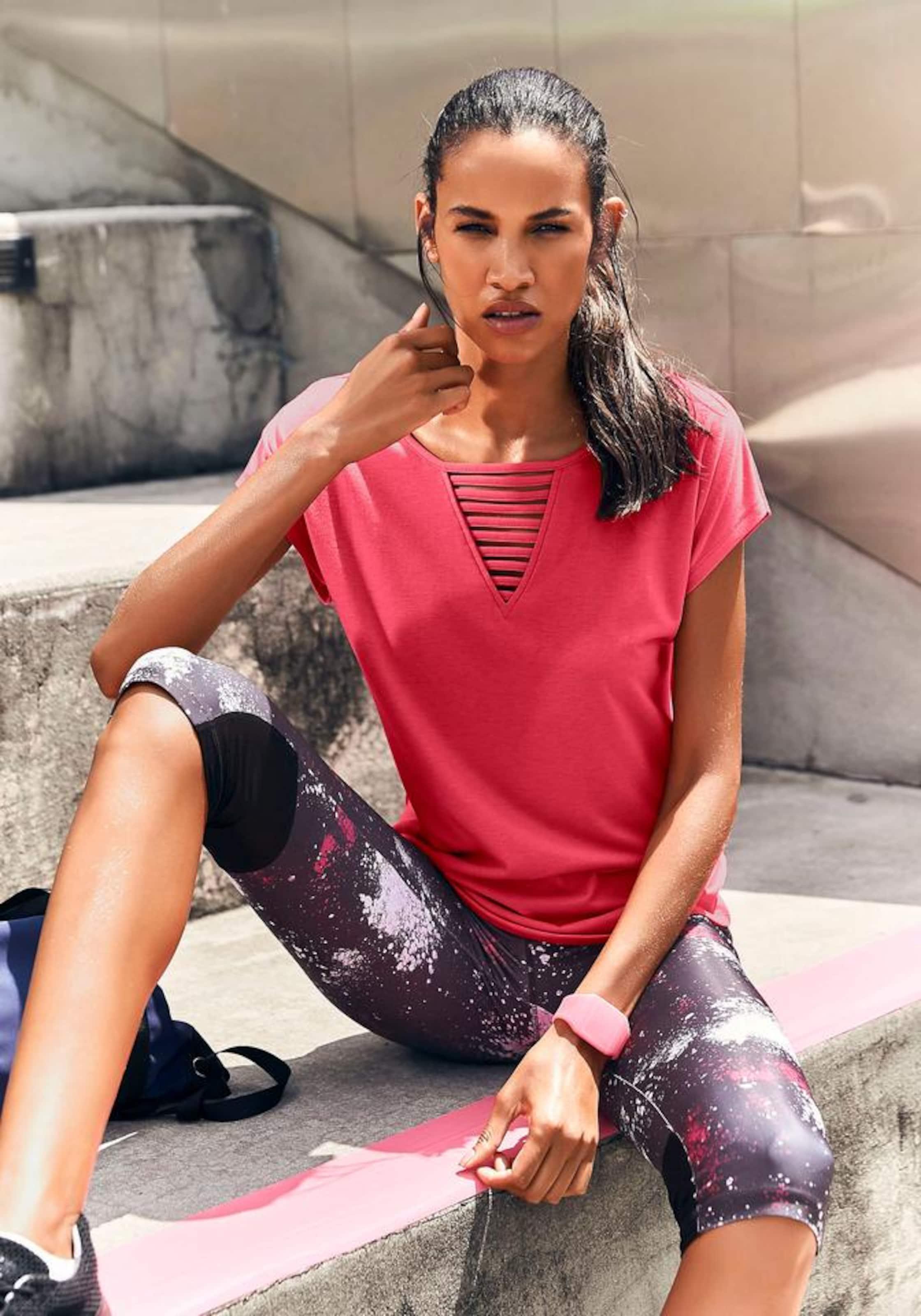 shirt 'galaxy' Lascana Active By In Pink T JTK13cuFl5