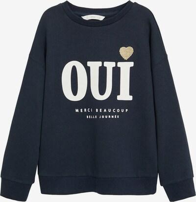 MANGO KIDS Sweatshirt 'DUBLINY' in navy / weiß, Produktansicht