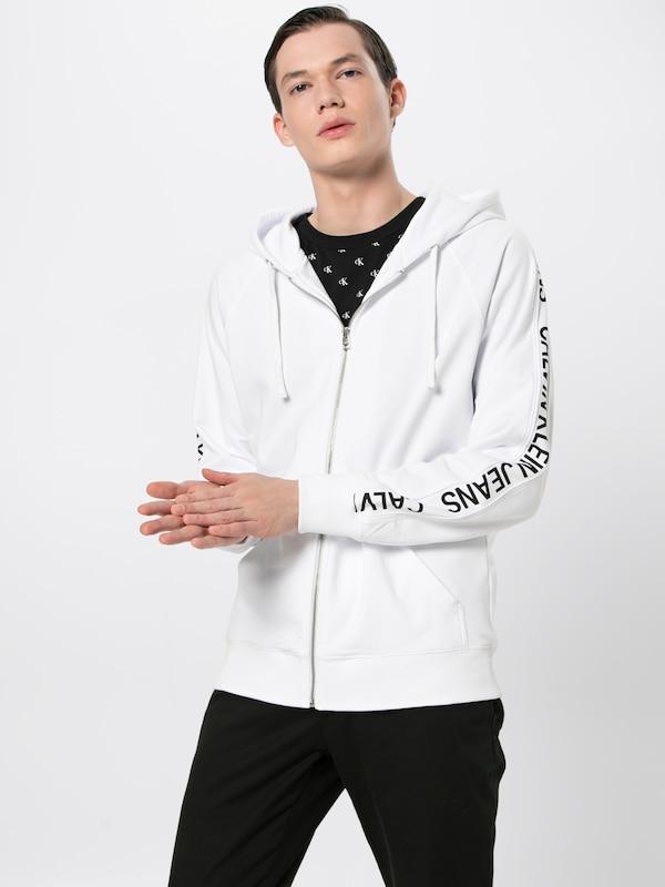 Survêtement 'instit Klein En Stripe Jeans Calvin Veste NoirBlanc De Zip Side Up' qSUVMzp
