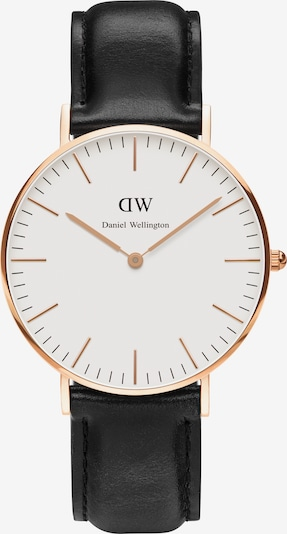 Daniel Wellington Uhr 'Classic Collection Sheffield' in rosegold / schwarz / weiß, Produktansicht
