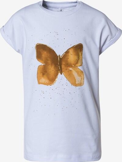 NAME IT Shirt in braun / hellbraun / weiß, Produktansicht