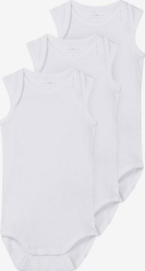 NAME IT Barboteuse / body en blanc, Vue avec produit