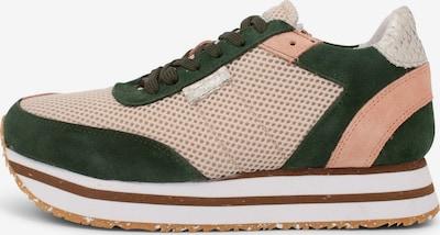 WODEN Sneaker 'Ava' in beige / grasgrün / rosa, Produktansicht