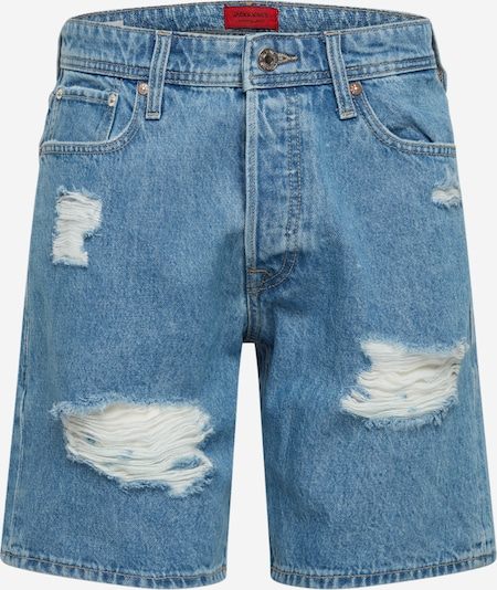 JACK & JONES Jeans 'JJICHRIS JJORIGINAL SHORTS AM 998' in Blauw denim J0aTsYRA