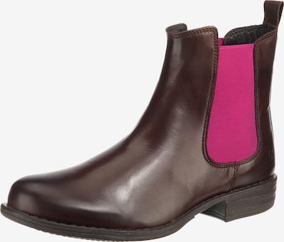 Paul Vesterbro Chelsea Boots in braun / pink, Produktansicht