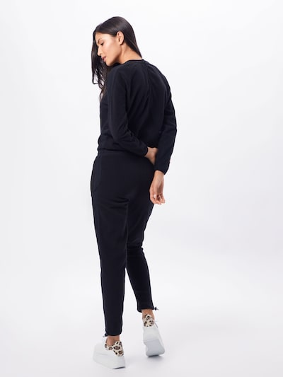 Urban Classics Overall 'Ladies Polar Fleece Jumpsuit' in schwarz: Rückansicht