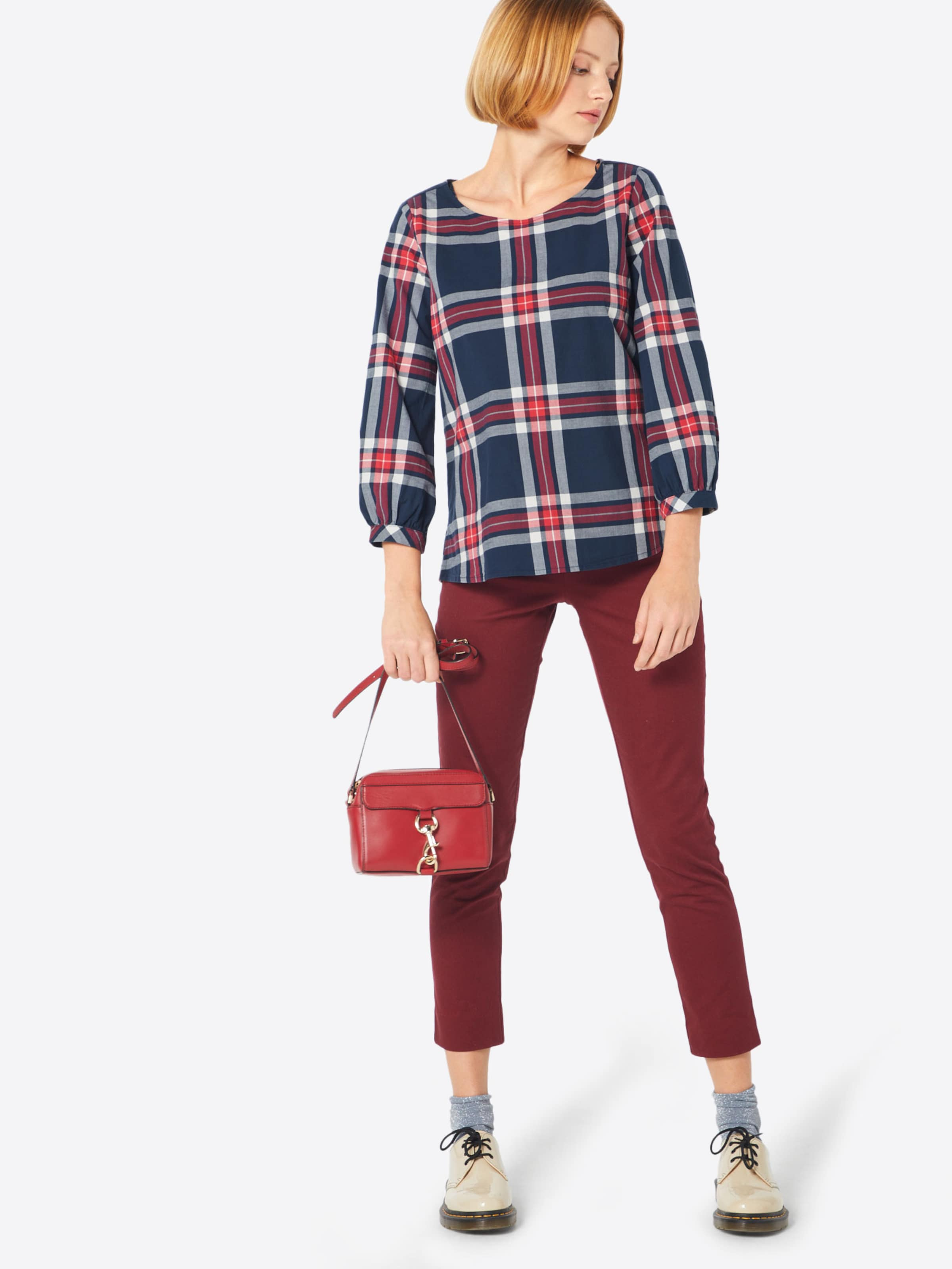 Blouse NavyRood Tom Tailor In Wit JTKlF1c3u5