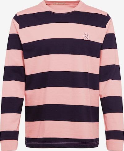 Nudie Jeans Co Shirt 'Rudi' in de kleur Rosa / Zwart, Productweergave