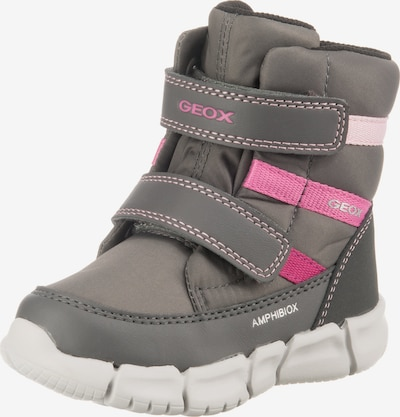 GEOX Kids Lauflernschuh 'Flexyper Girl' in grau / pink / rosa, Produktansicht
