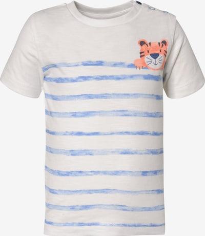 STACCATO T-Shirt in hellblau / orange / weiß, Produktansicht