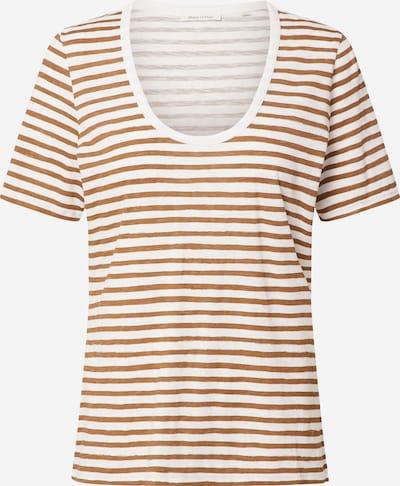 Marc O'Polo Shirt in dunkelbraun / weiß, Produktansicht