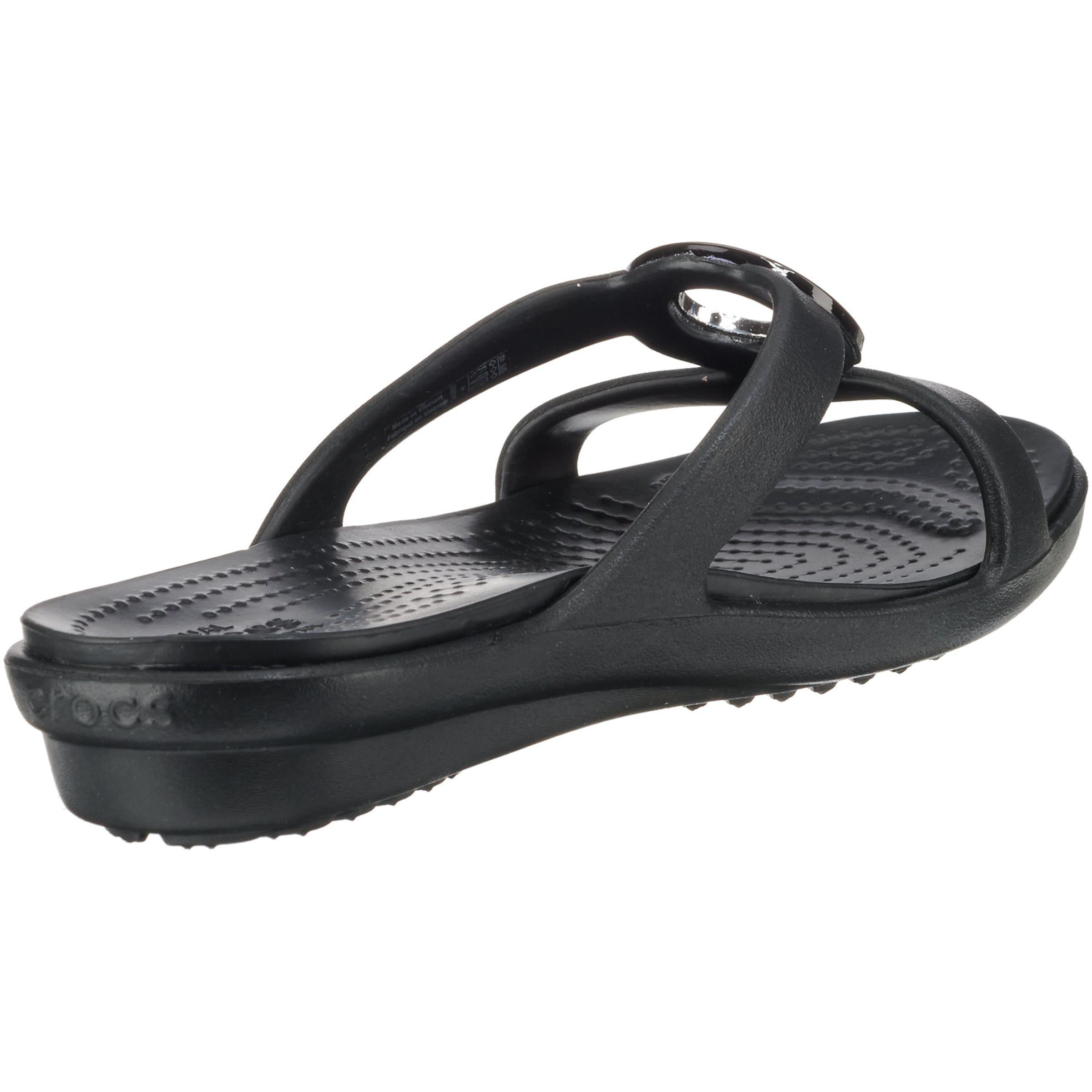 'sanrah' 'sanrah' Pantoletten Crocs Crocs In 'sanrah' Crocs SchwarzSilber Pantoletten Pantoletten In SchwarzSilber 8nwyvmON0