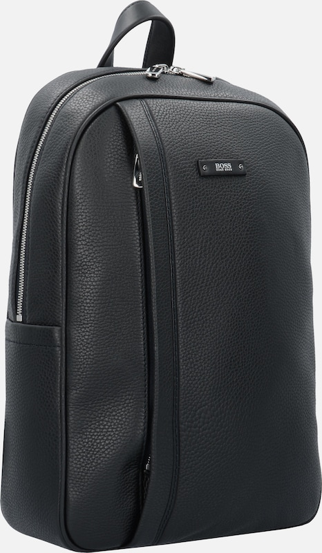 BOSS Traveller Business Rucksack Leder 40 cm Laptopfach
