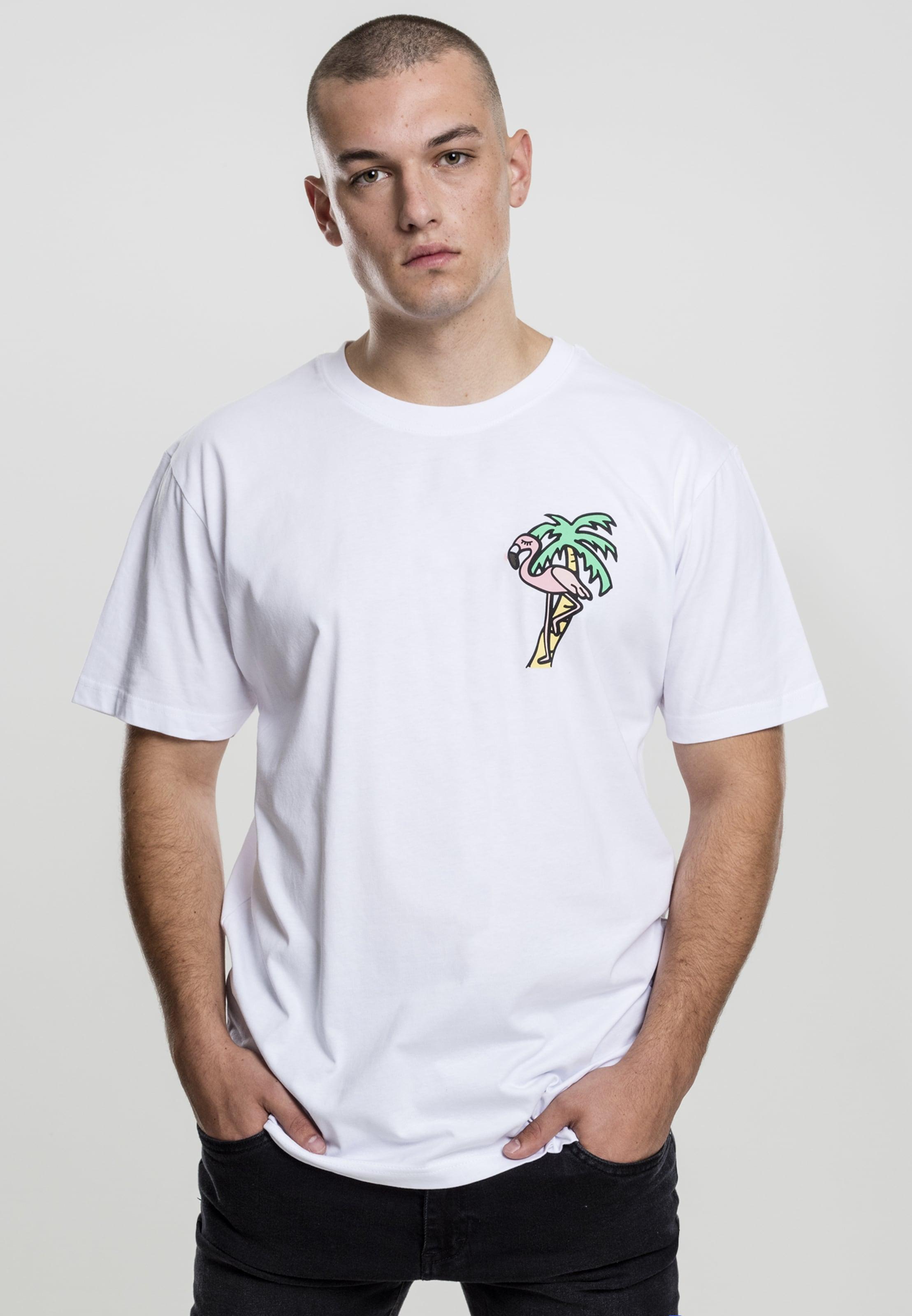 Tee GelbGrün T 'flamingo' Weiß Mister shirt In Hellpink dWxBorCe