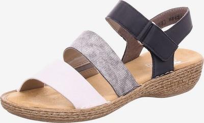 RIEKER Sandale in marine / taupe / offwhite, Produktansicht