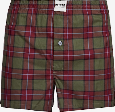 VATTER Boxer shorts 'Loose Larry' in Olive / Dark red, Item view