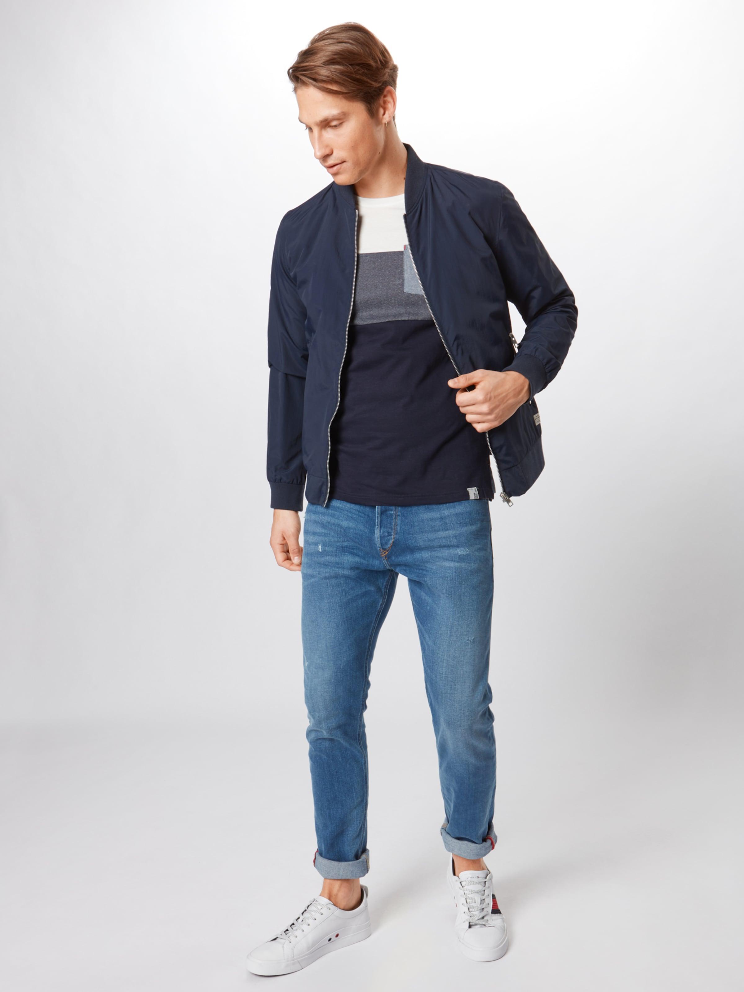 Bleu FoncéBlanc 'clemens' Jeans T Indicode shirt En w8nO0Pk