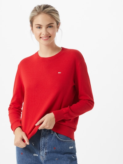 Tommy Jeans Pullover in rot, Modelansicht