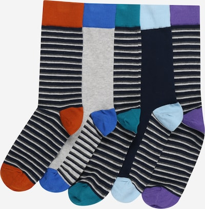 BURTON MENSWEAR LONDON Socken '5 Pack Stripe Socks' in navy, Produktansicht