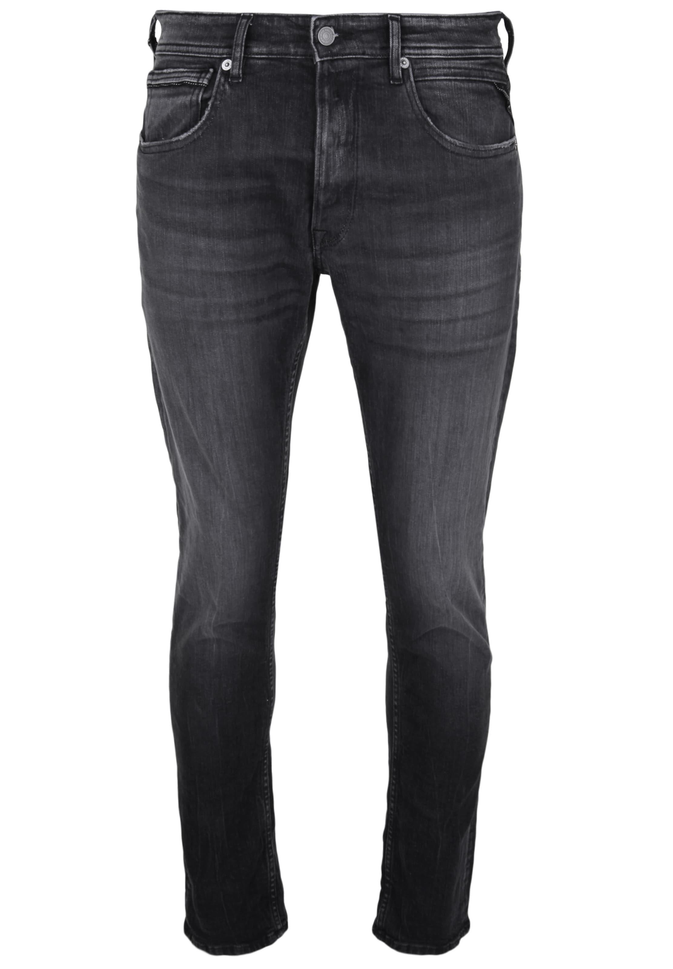 Denim Replay Jeans In 'grover' Black T1cFJ3uKl