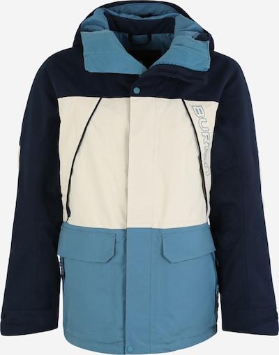 BURTON Jacke 'Breach' in hellblau / dunkelblau / weiß, Produktansicht