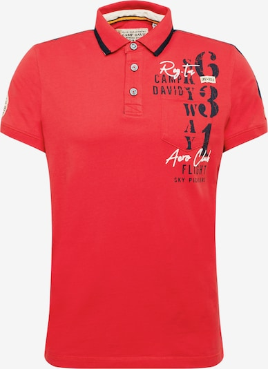 CAMP DAVID Poloshirt in rot, Produktansicht