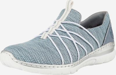 RIEKER Slip-Ons in Smoke blue / Silver / White, Item view