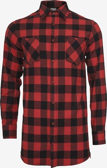 Urban Classics Hemd in rot / schwarz, Produktansicht