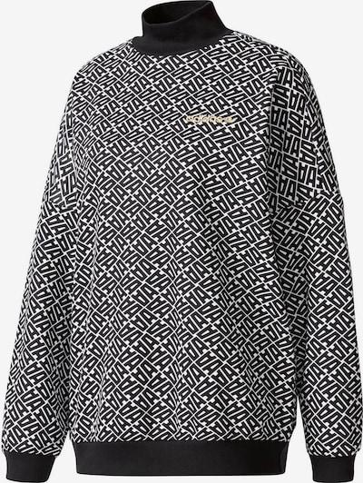 ADIDAS ORIGINALS Sweater ' W ' in schwarz / weiß, Produktansicht