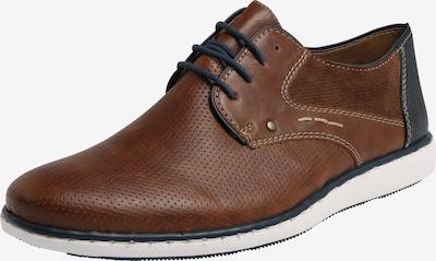 RIEKER Šněrovací boty - tmavě modrá / hnědá, Produkt