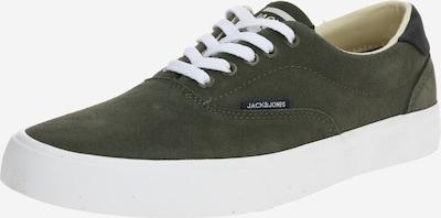 JACK & JONES Trampki niskie 'JFWMORK SUEDE' w kolorze oliwkowy / białym, Podgląd produktu