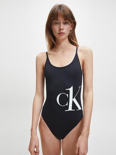 Calvin Klein Strój kąpielowy w kolorze czarny / białym, Podgląd na modelu(-ce)