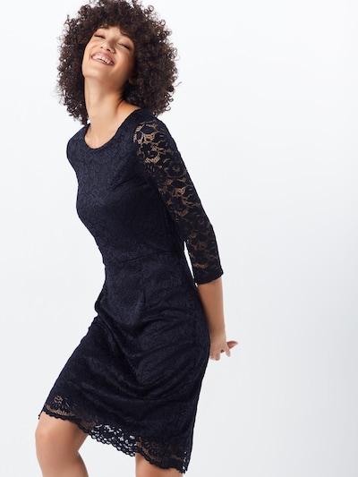 Trumpa kokteilinė suknelė 'VMSTELLA 3/4 LACE ABK DRESS COLOR' iš VERO MODA , spalva - juoda: Vaizdas iš priekio