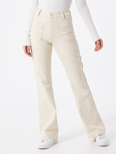 OBJECT Pantalon en crème / blanc, Vue avec modèle
