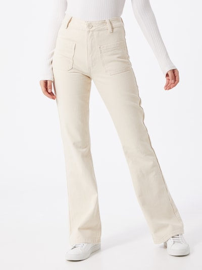 OBJECT Broek in de kleur Crème / Wit, Modelweergave