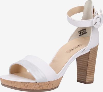 Paul Green Sandale in silber / weiß, Produktansicht