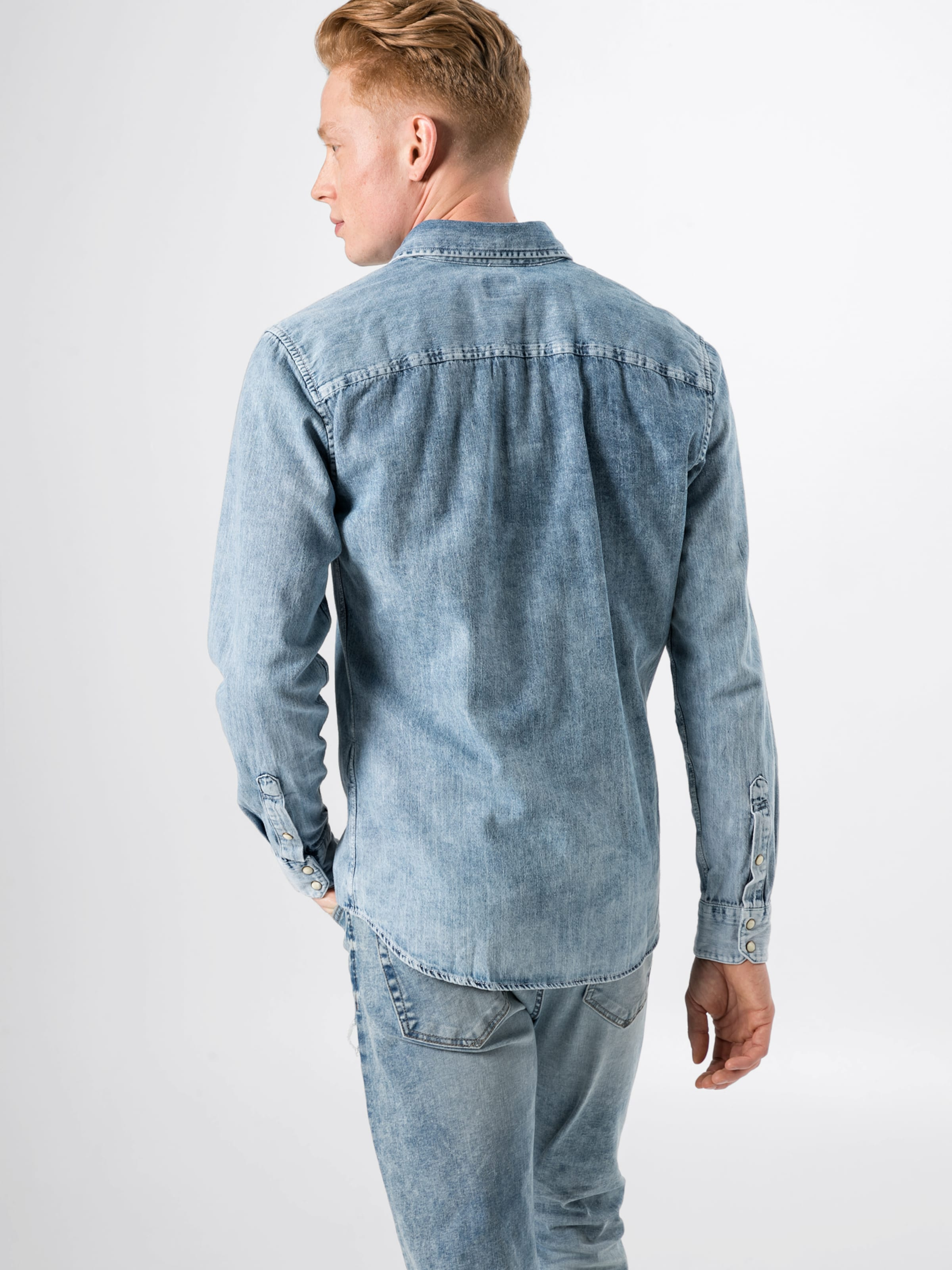 En Jones s' Denim Chemise Bleu 'jjesheridan Shirt L Jackamp; fg76vYby
