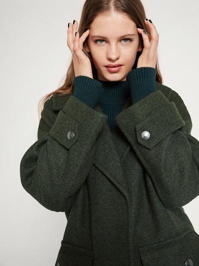 EDITED Mantel 'Clio' in grün, Modelansicht