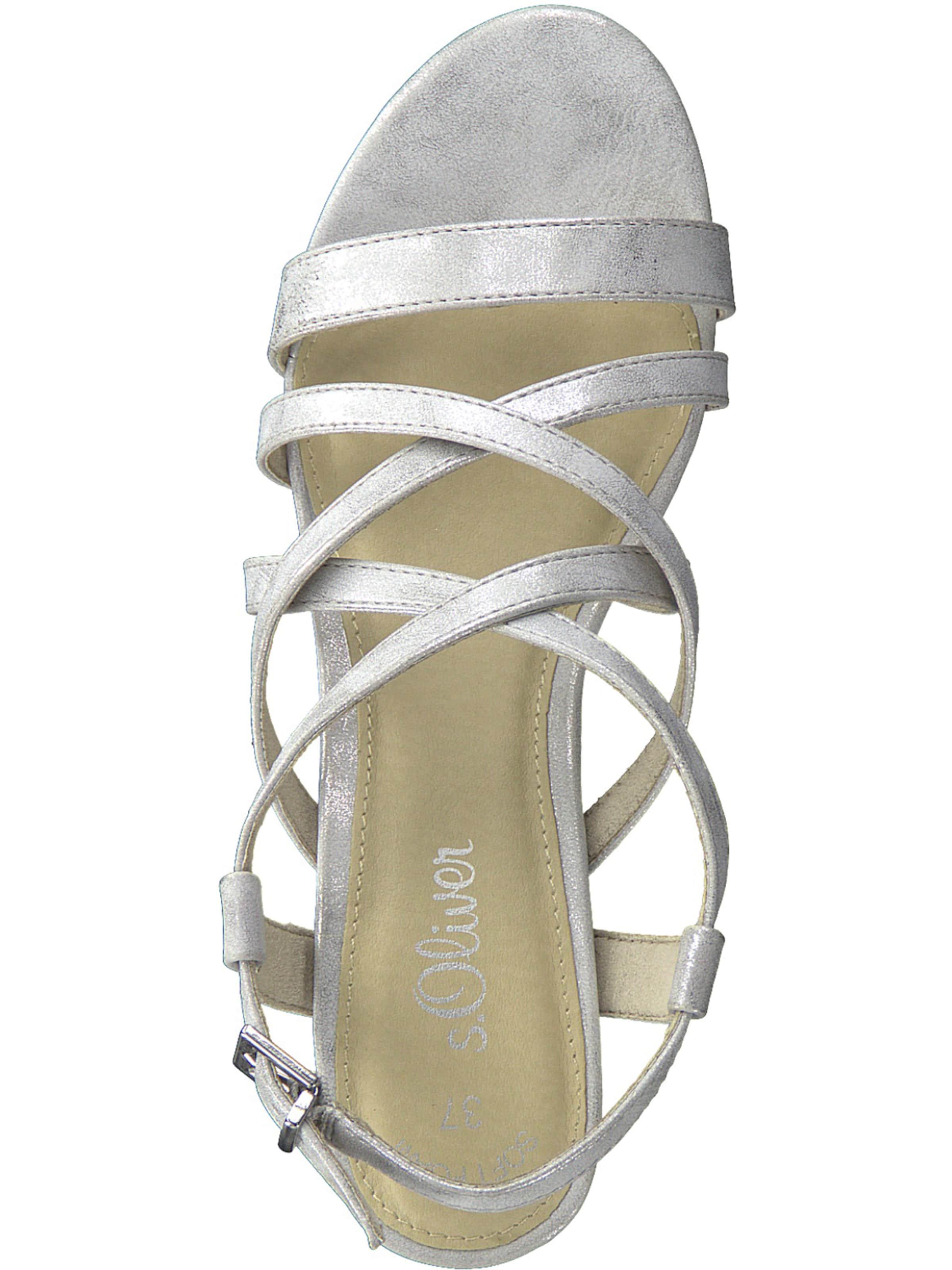 S oliver oliver Sandale In oliver S Silber Sandale S Silber In MVGSzqpU