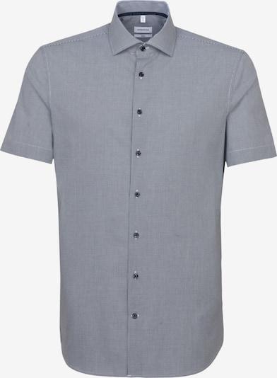 SEIDENSTICKER Hemd in grau / dunkelgrau: Frontalansicht