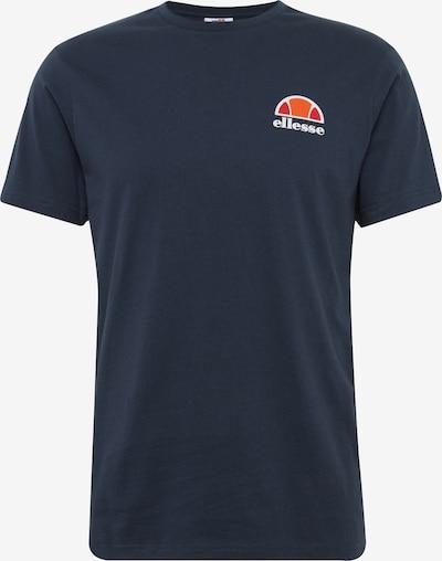 ELLESSE T-Shirt 'CANALETTO' in dunkelblau / orangerot: Frontalansicht