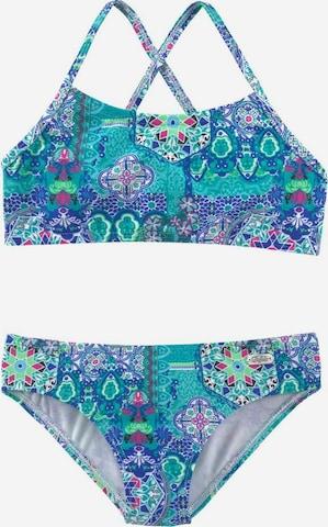 BUFFALO Bustier-Bikini in Blau
