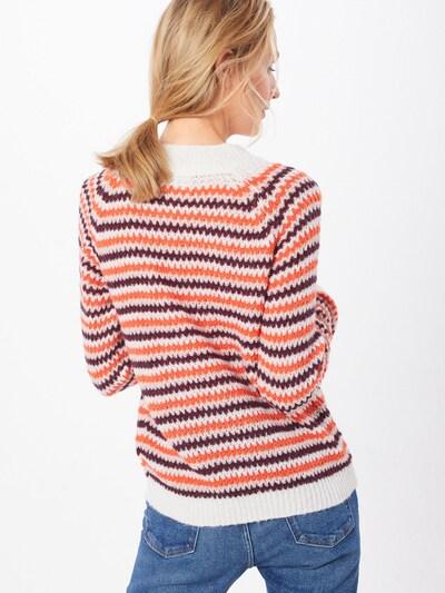 Megztinis 'ERICA LS3' iš ICHI , spalva - raudona / balta: Vaizdas iš galinės pusės