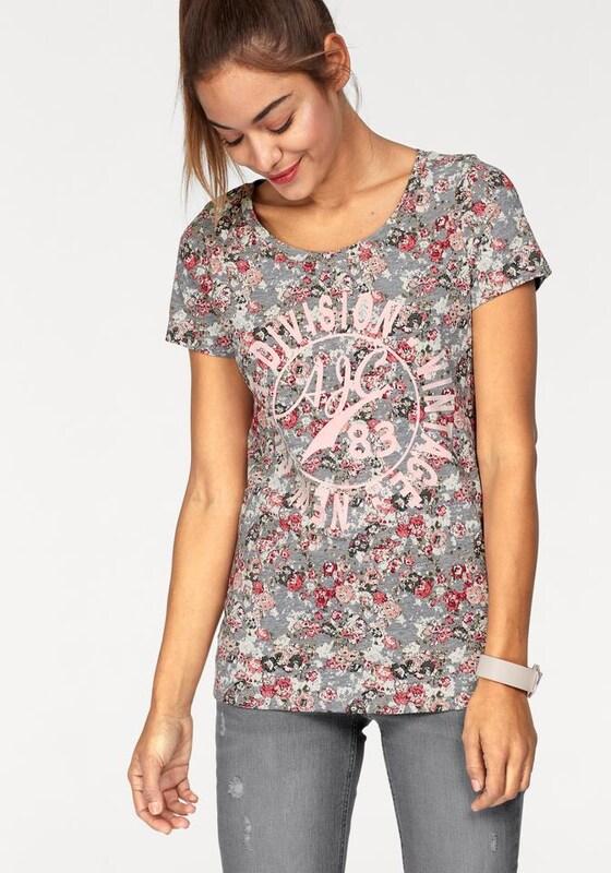 AJC T-Shirt »mit Blumen und Frontpirnt«