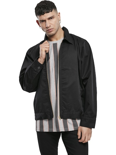 Urban Classics Jacke 'Workwear' in schwarz: Frontalansicht
