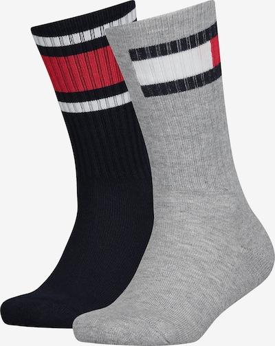 TOMMY HILFIGER Socken in blau / grau / rot / weiß, Produktansicht